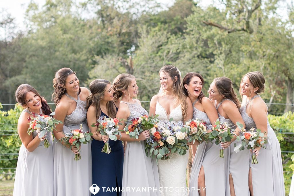 bridal party portraits renault winery