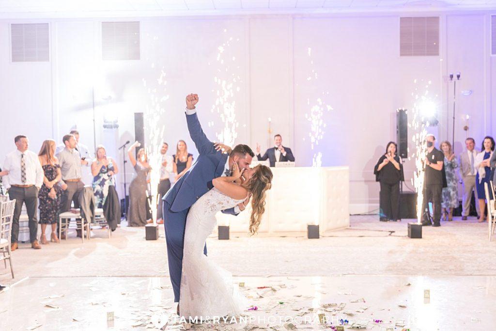 renault winery wedding reception champagne ballroom