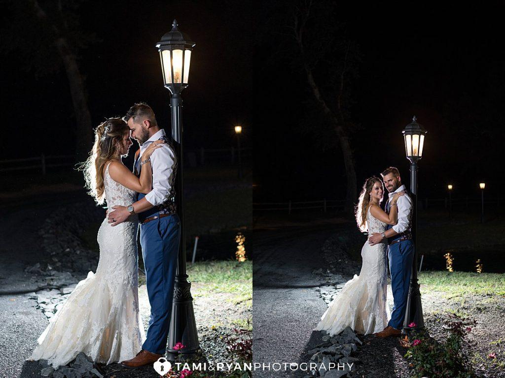 renault winery nighttime romantic bride groom portraits