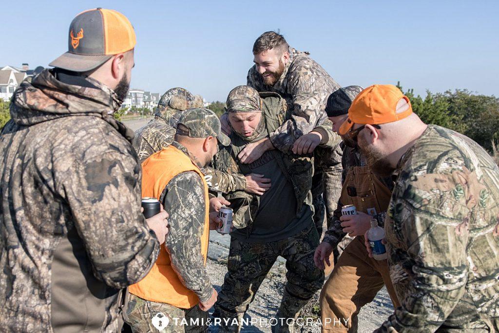 groom groomsmen hunters