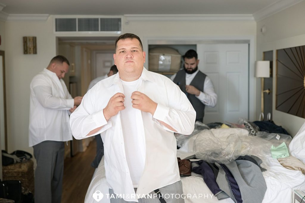 groom getting ready cape may nj