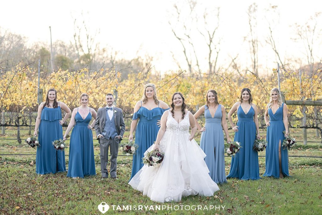 bridal party willow creek winery cape may